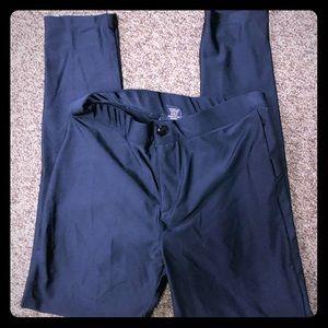 Forever21 black shiny tights size 11/12 skinny leg
